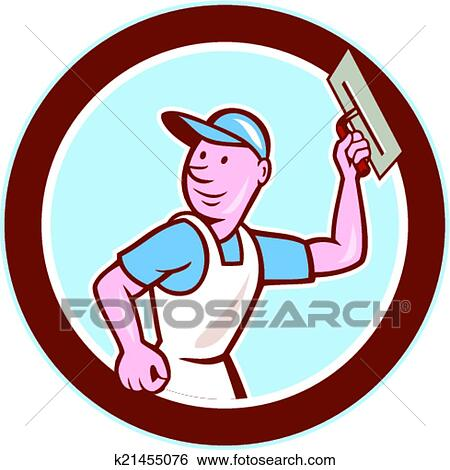 clip art of plasterer masonry worker circle cartoon k21455076 rh fotosearch com masonic clipart black and white masonic clipart images