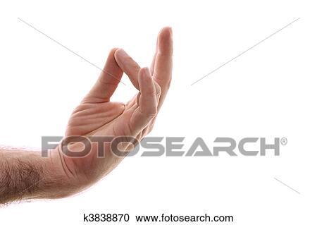 b70c96c7a3 A, main homme, est, montré, prithivi, mudra, position, recharges, les,  racine, chakra, aligner, il, à, la terre, energies., coup, sur, white.