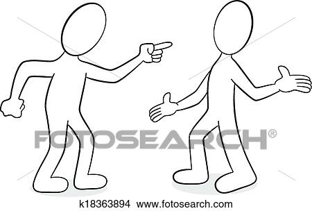 clipart of two people are of different opinion k18363894 search