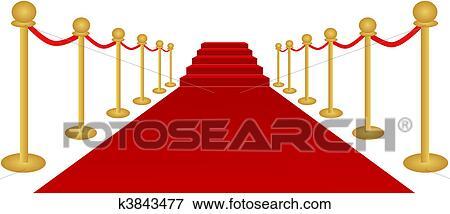 clip art of red carpet vector k3843477 search clipart rh fotosearch com red carpet vector png red carpet victoria secret shanghai 2017