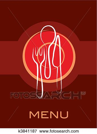 clip art of retro restaurant simple menu design k3841187 search