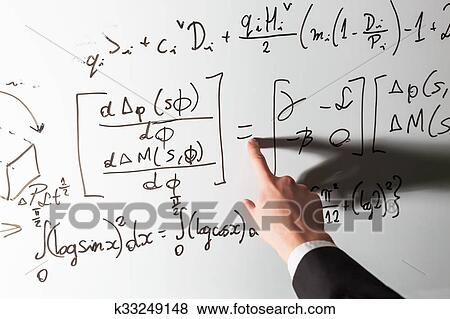 Pictures Of Teacher Pointing Finger On Equality Math Symbol On