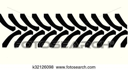 clip art of tractor tyre tread marks k32126098 search clipart rh fotosearch com mud tire tread clipart tire tread marks clipart