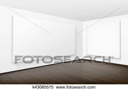 Clipart - vacío, blanco, blanco, carteles, cuadros, marcos, en ...