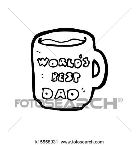clipart of worlds best dad mug k15558931 search clip art