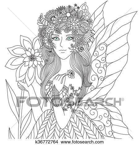 Clipart - hada k36772764 - Buscar Clip Art, Ilustraciones de Murales ...