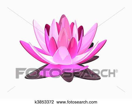Clip art of lotus flower k3853372 search clipart illustration 3d rendered illustration of an isolated elegant lotus flower mightylinksfo