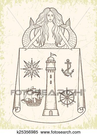 clipart medieval marítimo mapas k25356985 busca de ilustrações