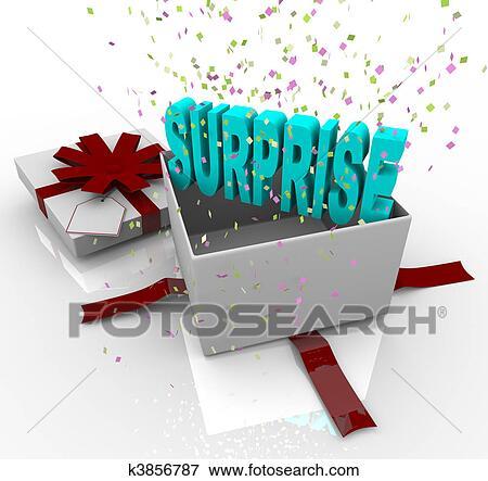 Beeld Verrassing Kado Gelukkige Verjaardag Cadeaudoos