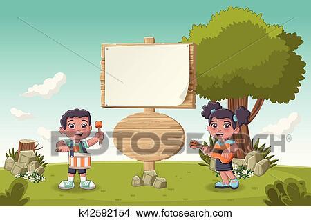 Bambini lettere cartone animato abc bambini scuola lettere