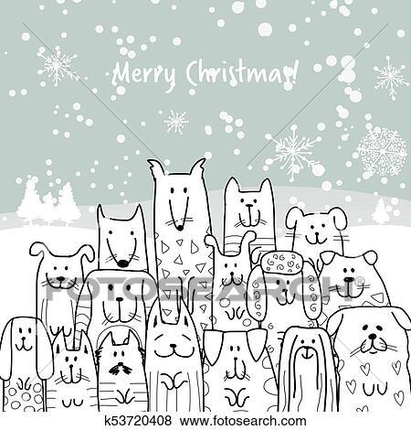 EPS Vector - Family christmas. Stock Clipart Illustration gg63777252 -  GoGraph