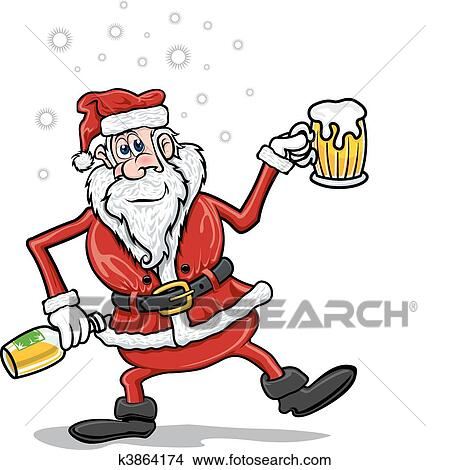 clipart of drunk santa claus k3864174 search clip art rh fotosearch com drink clip art animated drunk clipart free