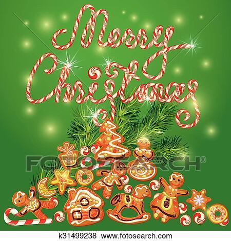Frohe Weihnachten Pferd.Glueckwunschkarten Von Weihnachten Lebkuchen Plätzchen In Engelchen Stern Mond Glocke Haus Pferd Rentier Und Tannenbaum Branches
