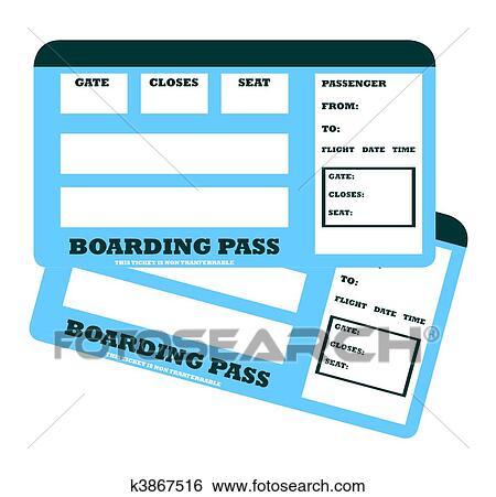 Stock Illustration Of Two Blank Flight Tickets K3867516