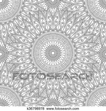 Clip Art of Coloring pages for adults.Decorative hand drawn doodle ...