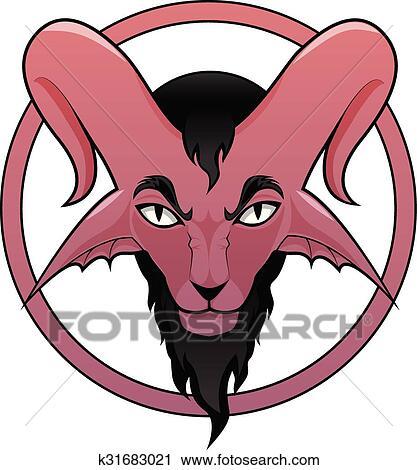 clipart of devil symbol k31683021 search clip art illustration rh fotosearch com devil clip art images for free devil clipart black and white