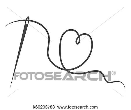 Needle And Thread Drawing Clip Art
