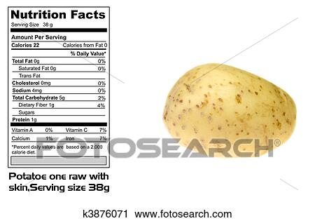 Nutritional Facts Of Potato Stock Image K3876071 Fotosearch