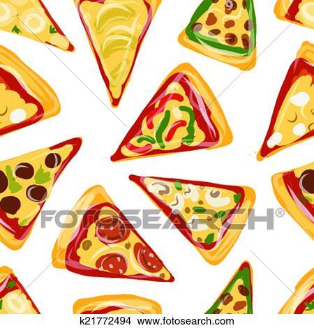 Clipart Pezzi Di Pizza Seamless Modello Per Tuo Disegno
