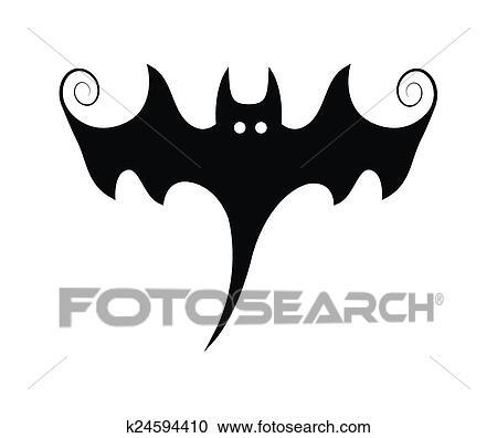 clipart spooky morcego halloween forma k24594410 busca de