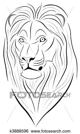 clipart leão tatuagem k3888596 busca de clip art ilustrações