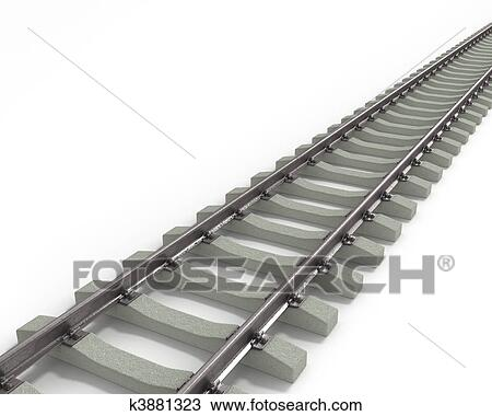 drawing of long rails diagonal k3881323 search clipart