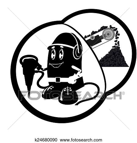 Clipart Of Miner K24680090