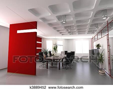 Clipart moderne intérieur bureau k3889452 recherchez des