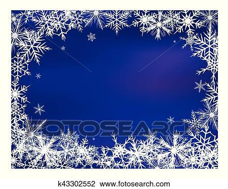 Snowflake Background Beautiful Banner Wallpaper Design Illustration