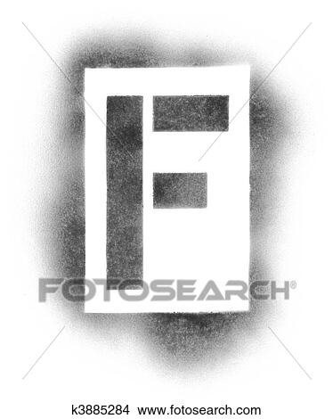 Stencil Letters In Spray Paint Picture K3885284 Fotosearch