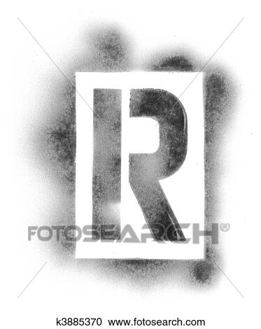 Stencil Letters In Spray Paint Stock Image K3885370