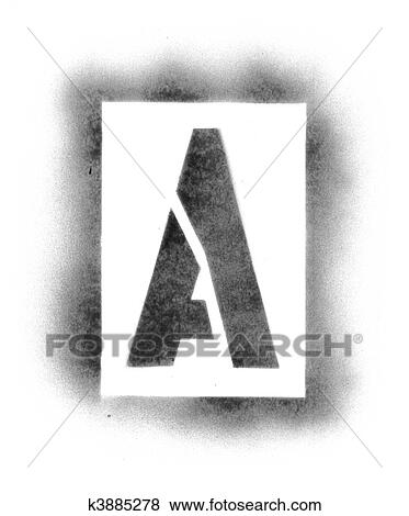 Stencil Letters In Spray Paint Stock Photo K3885278