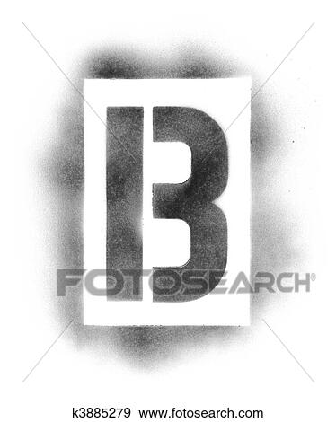 Stencil Letters In Spray Paint Stock Photo K3885279