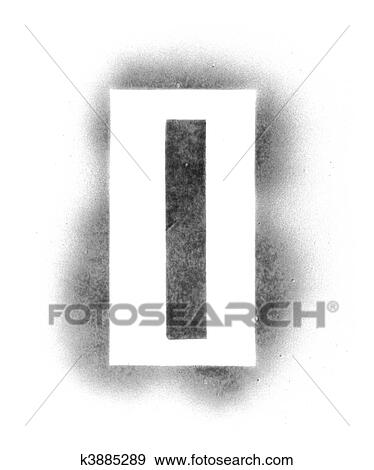 Stencil Letters In Spray Paint Stock Photo K3885289