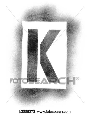 Stock photo of stencil letters in spray paint k3885373 search stencil letters in spray paint spiritdancerdesigns Images