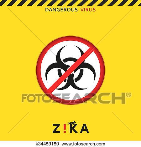 Clipart Stopp Zika Gefährlich Virus Achtung Virus Threat