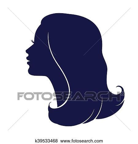 Clipart Visage Femme Profile Femme Tete Silhouette K39533468