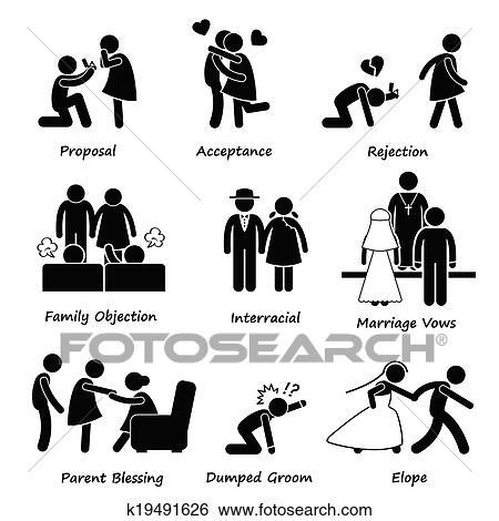 Clipart Amour Couple Mariage Probleme K19491626 Recherchez