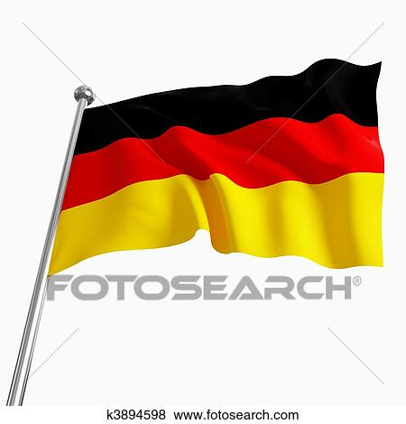 stock illustration of german flag 3d k3894598 search eps clip art rh fotosearch com