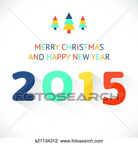 Clipart of happy new year 2015 colorful greeting card made k21134312 clipart happy new year 2015 colorful greeting card made fotosearch search clip art m4hsunfo