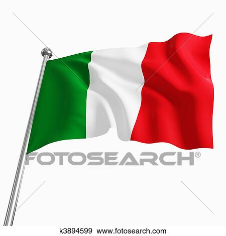 stock illustration of italian flag k3894599 search vector clipart rh fotosearch com Waving Italian Flag Waving Italian Flag