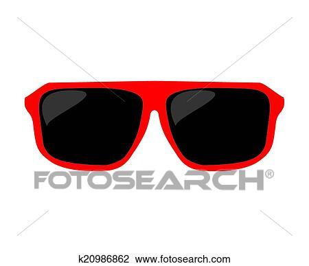 61ea667305bd9 Clipart - lentes de sol rojos