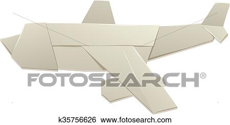 Origami plane line icon, outline ... | Stock vector | Colourbox | 244x450