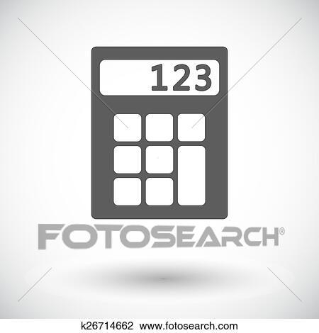 Taschenrechner Icon Clipart K26714662 Fotosearch