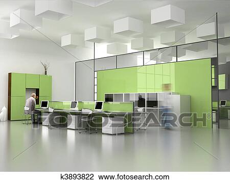Stock illustration modern interior with posters and bicycle