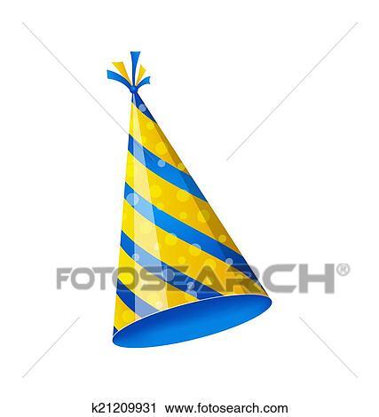 Clipart Verjaardag Hoed Geisoleerde Op Wit Achtergrond