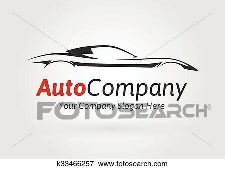 Clip Art Of Company Sports Car Silhouette Logo K33466257 Search