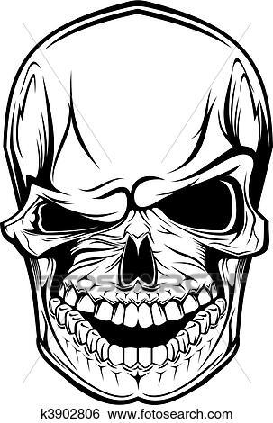 clip art of danger skull k3902806 search clipart illustration rh fotosearch com skull clip art images skull clipart free