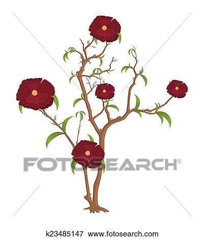 Flores Ramos Vetorial Desenho Clipart K23485147 Fotosearch