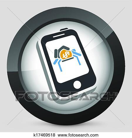Clip Art Of Phone Tariff Plan K17469518